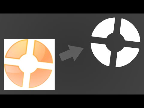 How to change a logo's color to white in GIMP