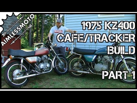Cheap Custom Motorcycle Project | KZ400 Tracker Build | PART 1