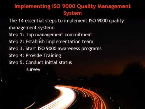 Implementing ISO 9000 Quality Management System