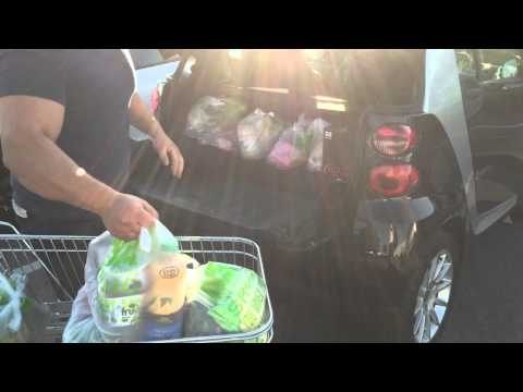 Smart Car Fortwo shopping challange, Boot (Trunk) space