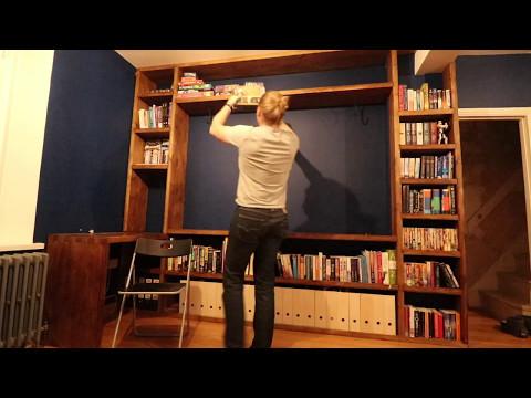 Bespoke Solid Wood Bookcase / Desk Combo