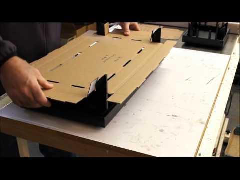 Retail Packaging Corrugated Box Tray Folding Fixture - Jig - Machine