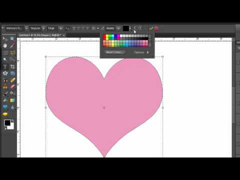 Text inside a Shape in Photoshop Elements 10