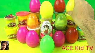 Disney 50 Surprise Eggs   Frozen Elsa , Spiderman , Play doh   Nursery Rhyme Song023142 342312