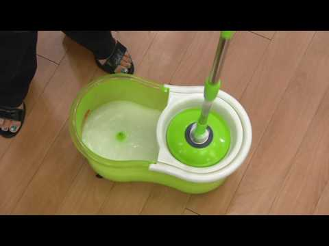 Clean Spin 360 Wet/Dry Microfiber Mop w/Carry Handle & Caster Wheels on QVC