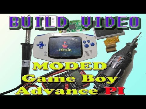 Electronic Projects: DYI Build Video of A Moded  Game Boy Advance Pi Zero Part 2