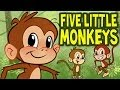 Five Little Monkeys Jumping On The Bed Animated Nursery Rhym