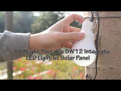 DX:YWXLight Portable 5W12 Integrate LED Light w/ Solar Panel