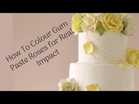Tutorial how to dust a rose with petal dust for a realistic effect