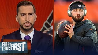 Nick Wright lays out expectations for Baker in year 2 with the Browns | NFL | FIRST THINGS FIRST