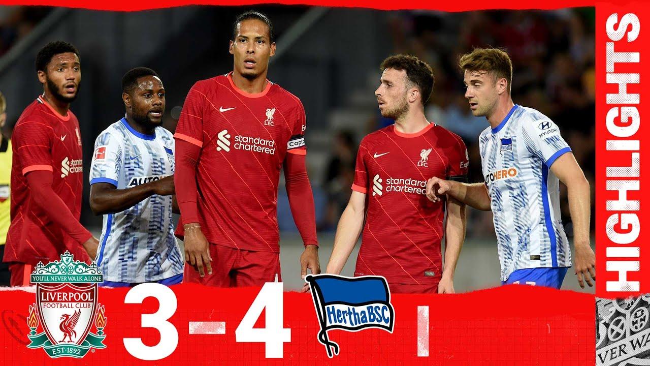 Highlights: Liverpool 3-4 Hertha BSC | Van Dijk & Gomez return to action!