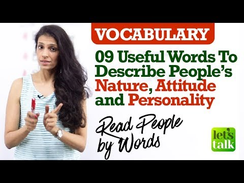 9 English words to describe one's Nature, Attitude & Personality | Free English speaking lesson.