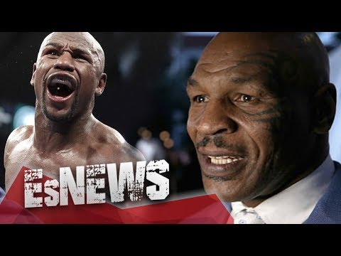 Mike Tyson Swings At Floyd Mayweather & Floyd Doesn't Even Flinch - EsNews Boxing
