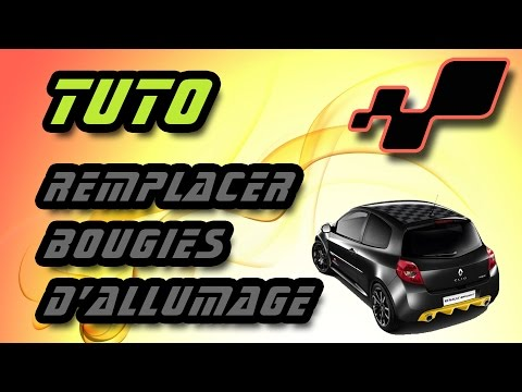 TUTO changer bougies d'allumage Renault Clio 3 RS (how to change spark plugs)
