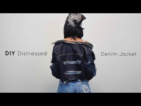 DIY Distressed Denim Jacket | Jeanae Melisa