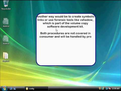 system restore point advanced