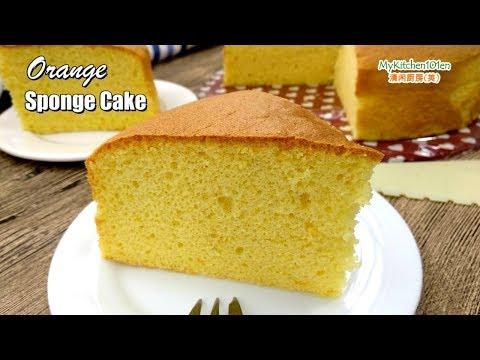Orange Sponge Cake | MyKitchen101en