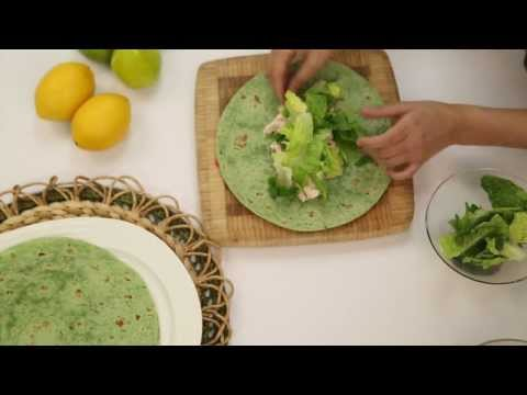 Healthy and Easy to Make Chicken Caesar Wrap!
