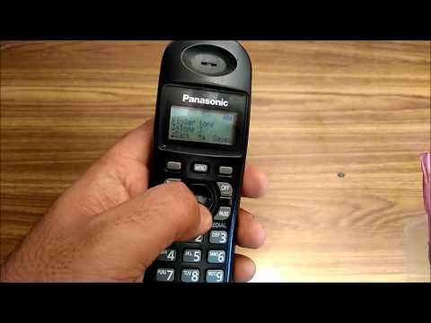 How to change the Ringtone on Panasonic Cordless Landline Phone  - KX-TG3611SXB