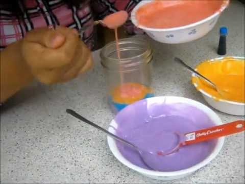 Rainbow cake in a jar tutorial!