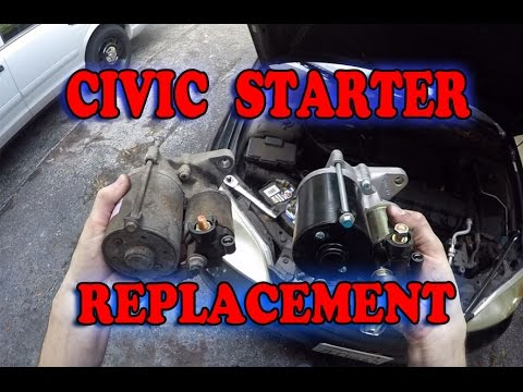 Honda Civic Starter Motor Replacement