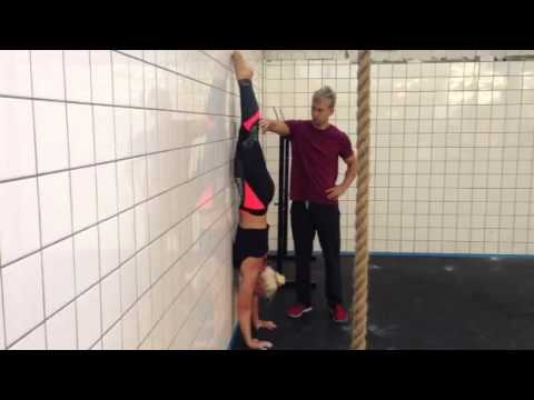 Handstand stomach-to-wall drill