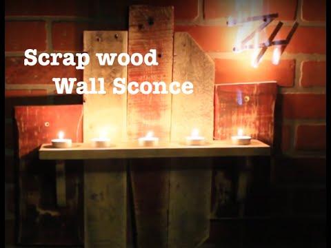 DIY Scrap Wood Wall Sconce