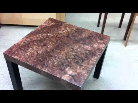 Marble/Granite Faux Finish on Ikea Table