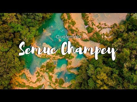 Guatemala Travel #8   Semuc Champey Aerial view drone