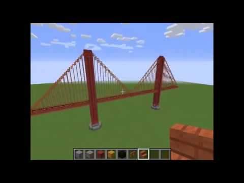 Building the Golden Gate Bridge (Minecraft)