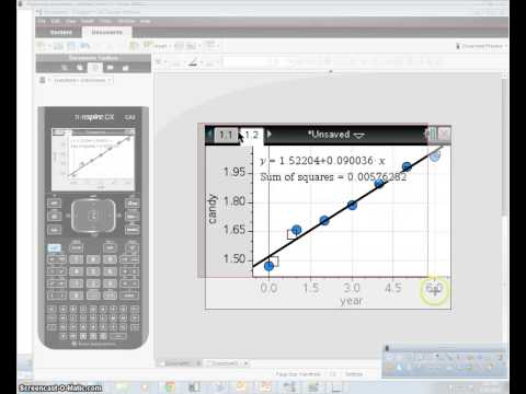Linear regression on TI Nspire