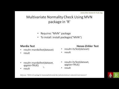 Testing Multivariate Normality using R [Bengali]