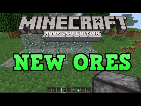 Minecraft Xbox 360 - NEW ORES (Emerald Ore, Nether Quartz / Marble)