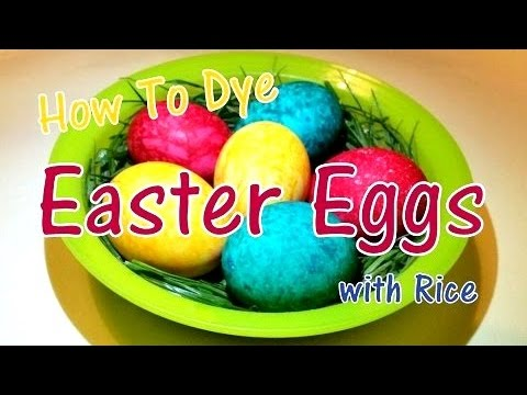 Easter Egg Coloring (with rice) - DIY Video Lifehack