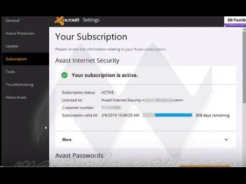 Avast antivirus serial number 100%