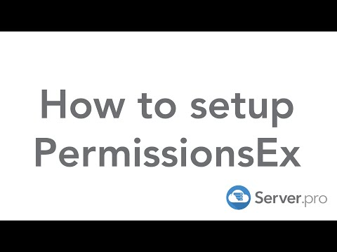How to setup PermissionsEx on your minecraft server - Server.pro