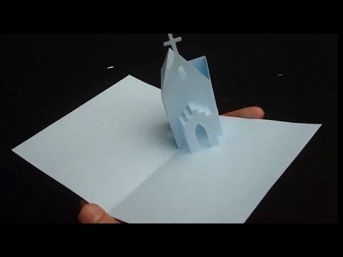 How To Make A 3D Church Pop-up Card for Christmas - Free Pattern