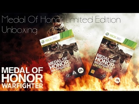 Medal Of Honor Warfighter Limited Edition (Xbox 360) Midnight Release Unboxing