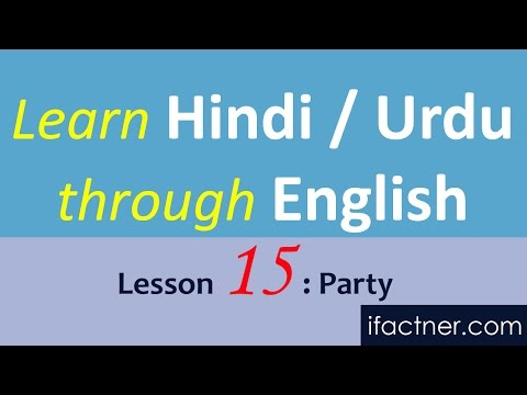 Learn Hindi through English language online Urdu, Party 15