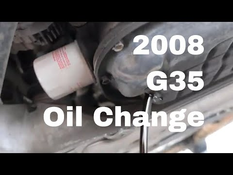 2008 Infiniti G35 - Diy Oil Change
