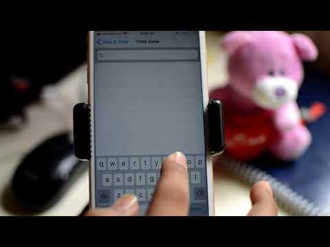 Set timezone in iPhone | Override timezone of iPhone