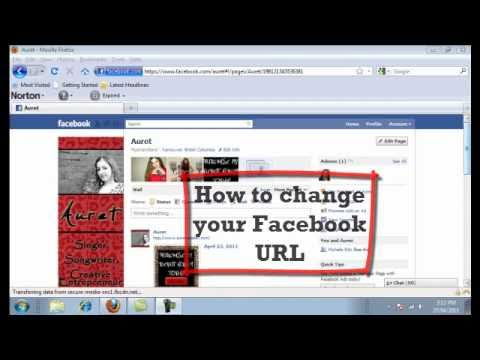 How to change your Facebook URL name (Personal & Fan Page)