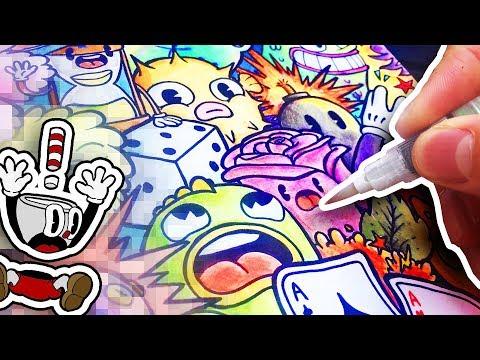 CUPHEAD ART STYLE CHALLENGE ! (30s Animation Style)