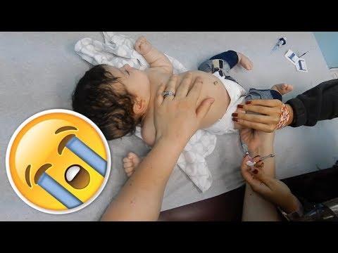 Baby gets shots!