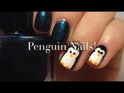 How To: Penguin Nails!