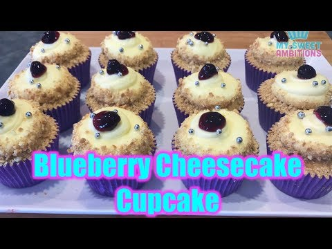 Blueberry Cheesecake Cupcake