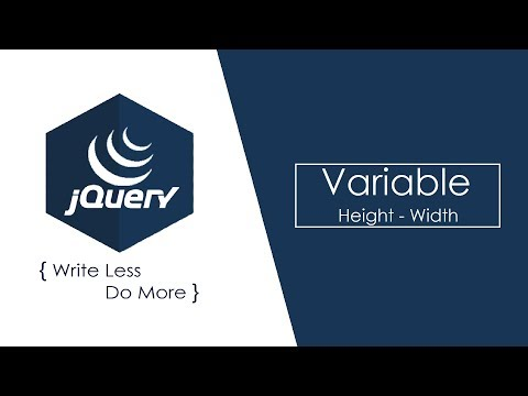 Variable (Height Width) attributes in jQuery (Hindi) - 17