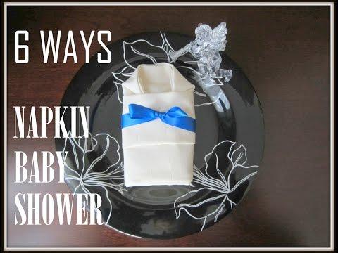 Napkin Folding: 6 Ways Folding Napkins on Babyshower