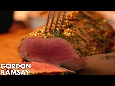 Rare Fillet of Beef with Salsa Verde & Truffled New Potatoes | Gordon Ramsay