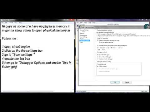 How to open Physical Memory on Cheat Engine